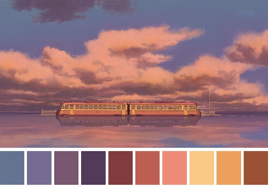 A Viagem de Chihiro - paleta de cores 01