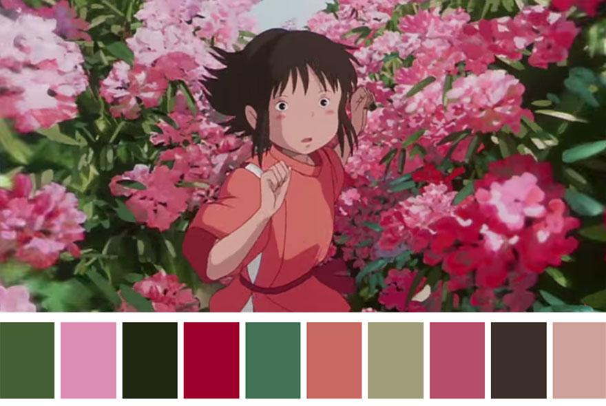 A Viagem de Chihiro - paleta de cores 02