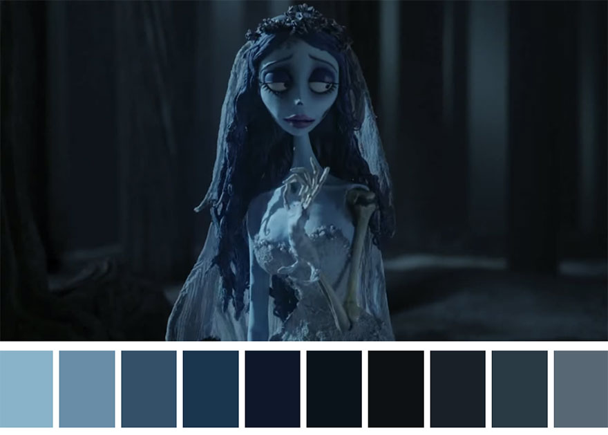 A noiva cadáver - paleta de cores 01