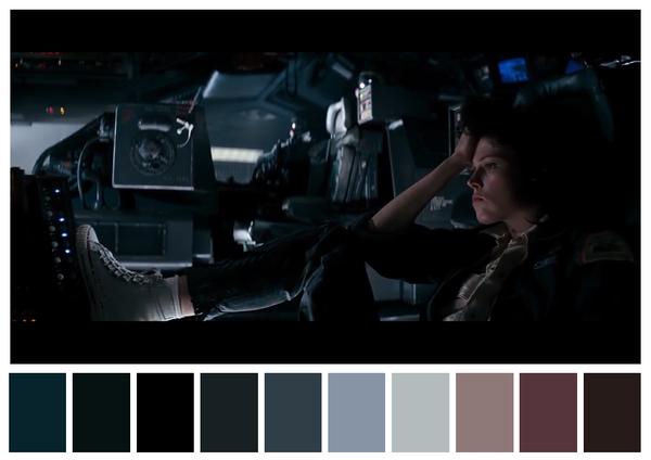 Alien - paleta de cores 01