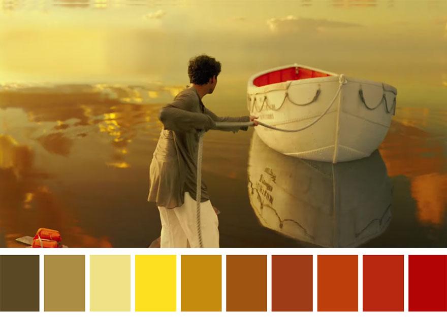As aventuras de Pi - paleta de cores 01