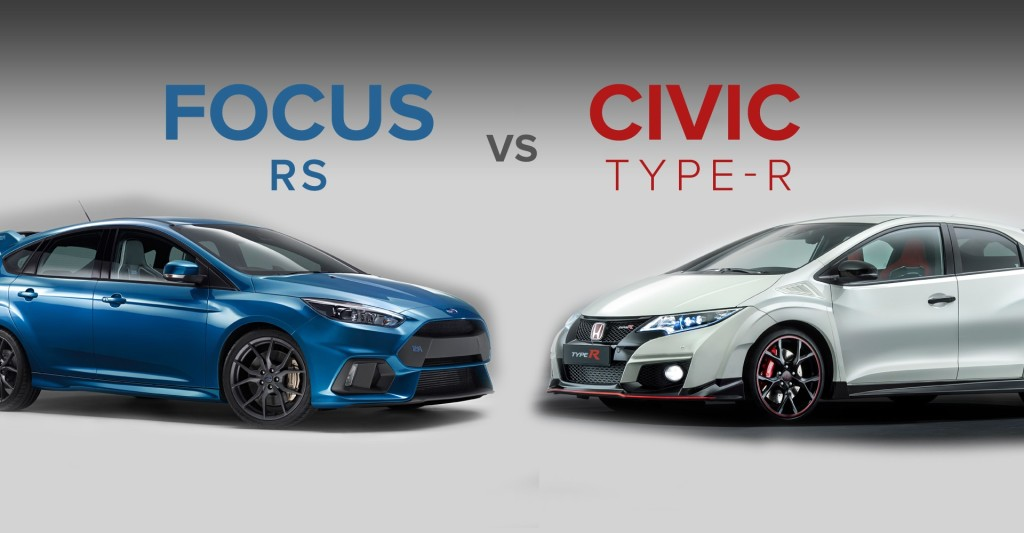 compara o ford focus 2016 vs honda civic type r 2016 mente coletiva. Black Bedroom Furniture Sets. Home Design Ideas