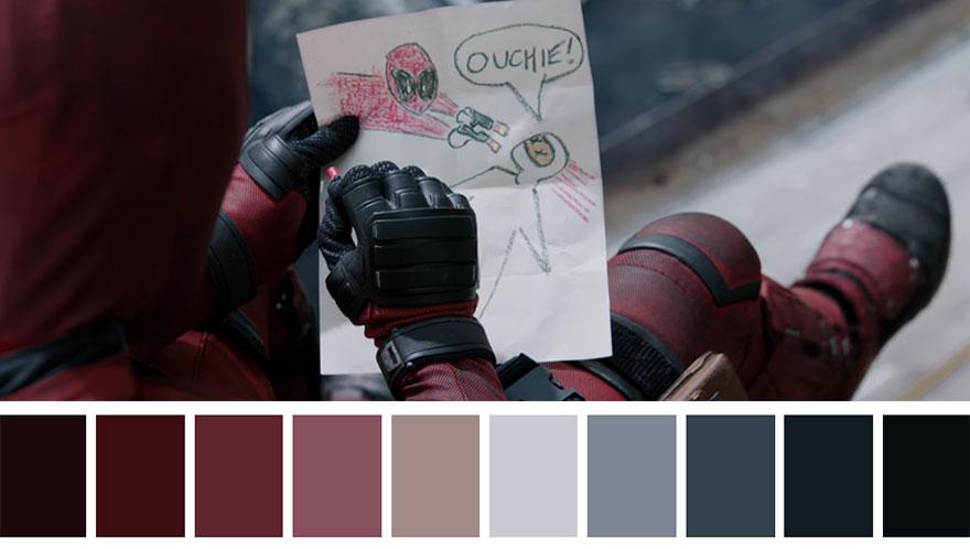Deadpool - paleta de cores 01