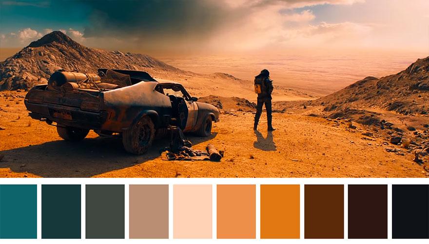 Mad Max - paleta de cores