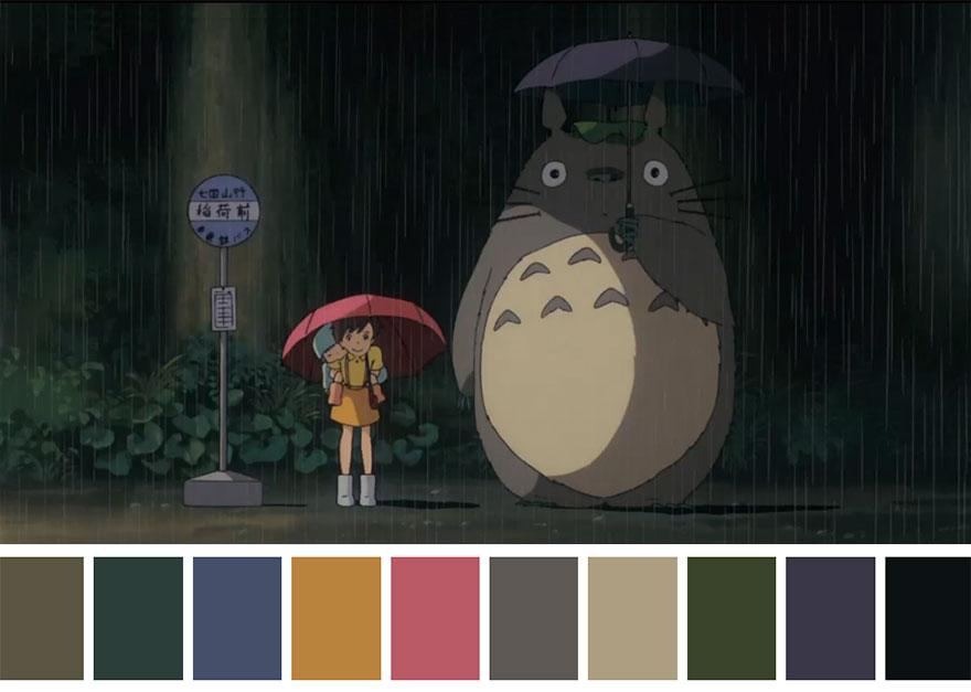 Meu amigo Totoro - paleta de cores 01