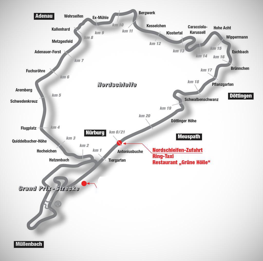 Nordschleife-mapa