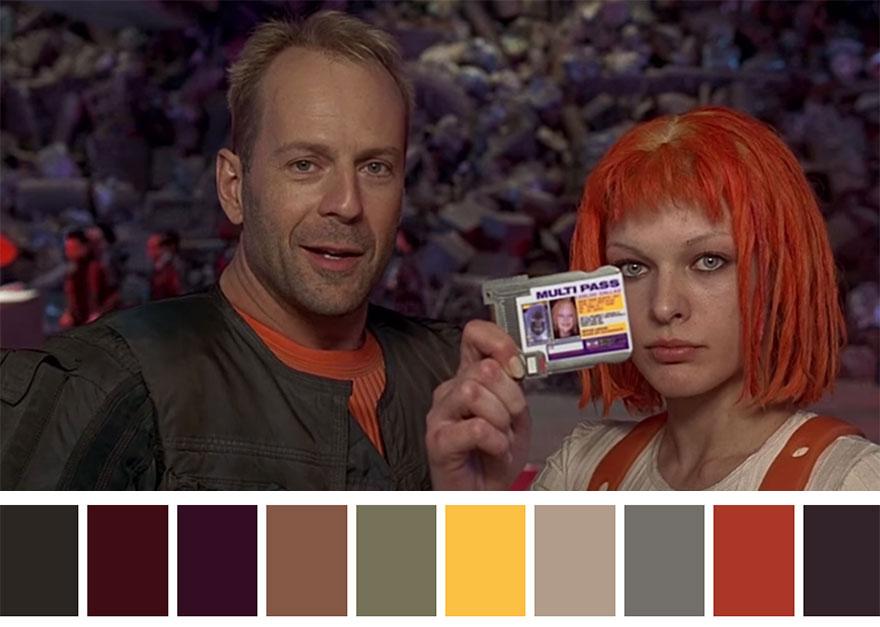 O quinto elemento - paleta de cores 01