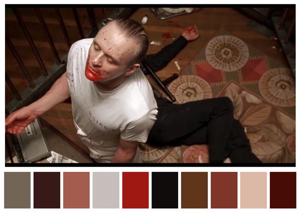 O silêncio dos inocentes - paleta de cores 01