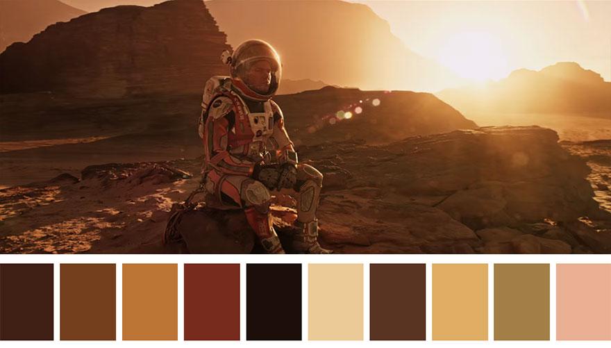 Perdido em Marte - paleta de cores 01