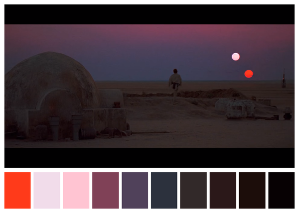 Star Wars IV - A New Hope - paleta de cores 01