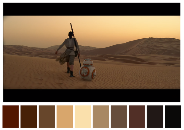 Star Wars - The Force Awakens - paleta de cores 01