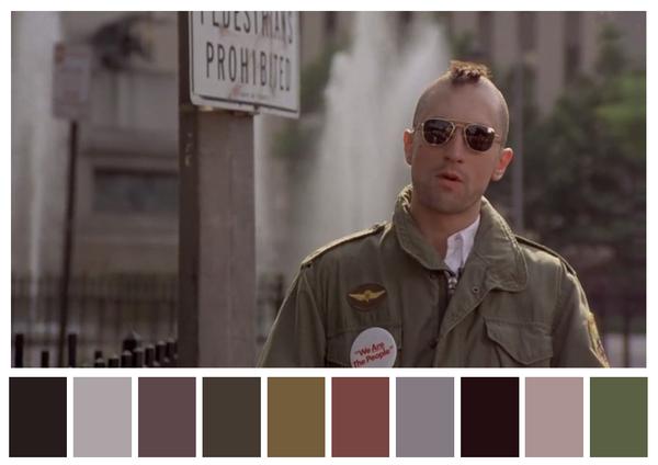 Taxi Driver - paleta de cores 01