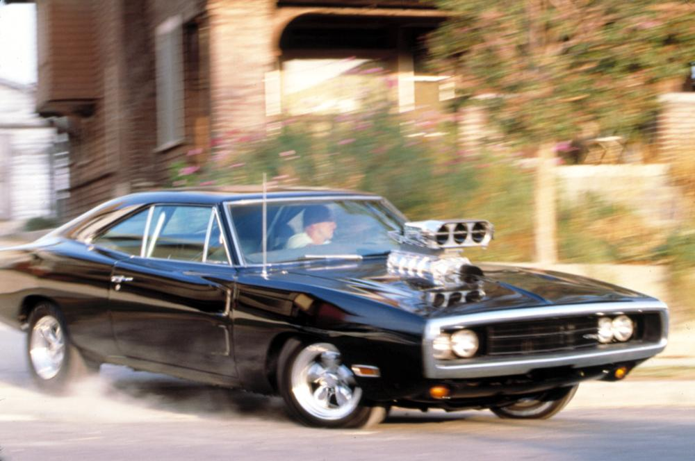 THE FAST AND THE FURIOUS, Vin Diesel & late 60s model Dodge Charger, 2001